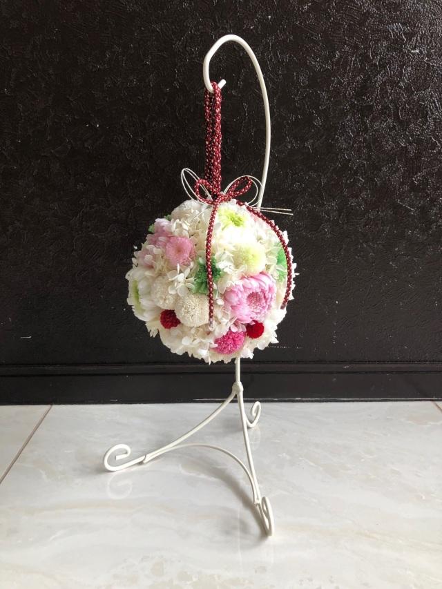 池袋 プリザーブドフラワー専門店 フラワーショップリズカ 結婚式 和装 ボールブーケ