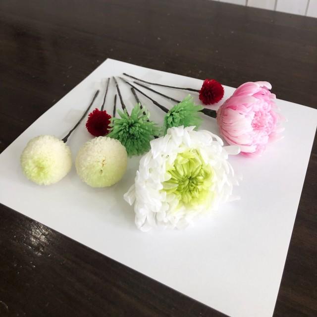 池袋 プリザーブドフラワー専門店 フラワーショップリズカ 結婚式 和装 ボールブーケ 髪飾り ヘアーオーナメント
